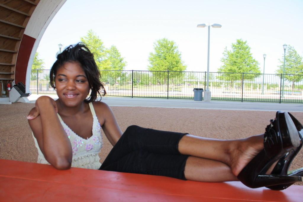 Красивые ножки симпатичной негритянки из Техаса
