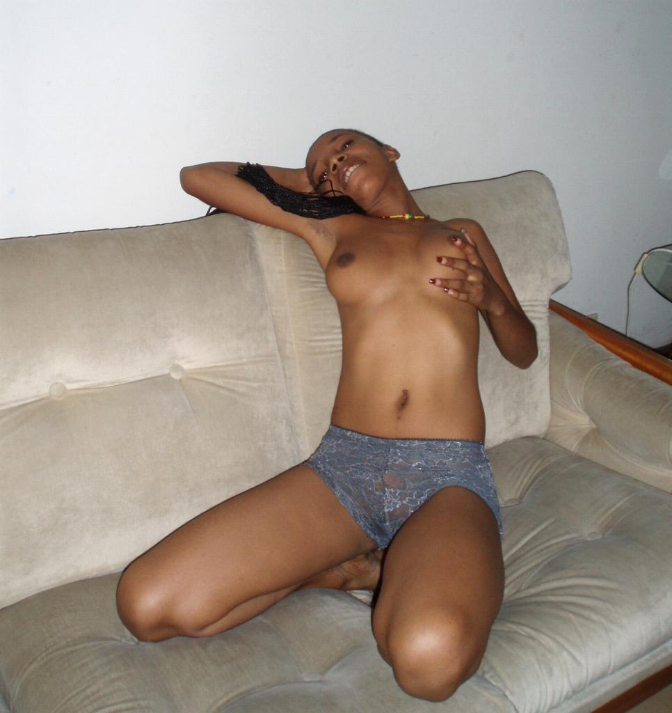 Секс со стройной конголезкой
