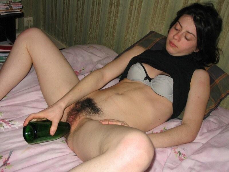 Бутылкой жене как дрочу я