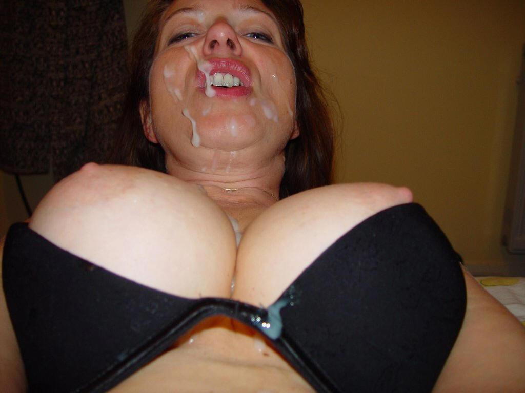 Фото больших сисек в сперме лижут порно