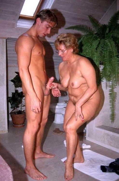 Older women younger men nude